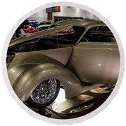 1937 Ford Coupe Round Beach Towel by Randy Scherkenbach