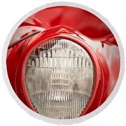 1937 Ford Headlight Detail Round Beach Towel