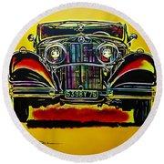 1937 Mercedes Benz First Wheel Down Round Beach Towel