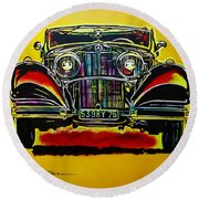 1937 Mercedes Benz First Wheel Down Round Beach Towel