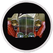 1928 Classic Packard 443 Roadster Round Beach Towel by Thom Zehrfeld
