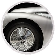 Round Beach Towel featuring the photograph 1938 Hispano-suiza H6b Xenia by Wade Brooks