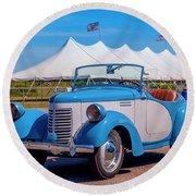 1939 Bantam Roadster Round Beach Towel by Ken Morris