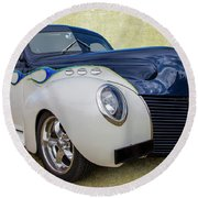 1939 Ford Round Beach Towel