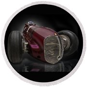 1939 Maserati 8ctf Indy Racer Round Beach Towel by Gary Warnimont