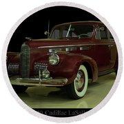 1940 Cadillac Lasalle Round Beach Towel