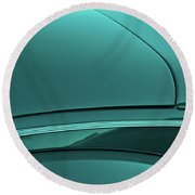 1940 Ford Deluxe Coupe Curves Round Beach Towel