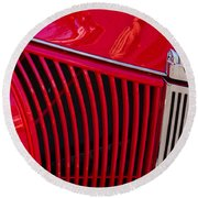 1940 Ford Pickup Grill Round Beach Towel