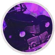 1940 Hupp Skylark Violet Pop Round Beach Towel