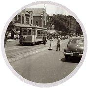 1940's Inwood Trolley Round Beach Towel