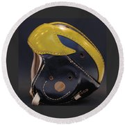 1940s Leather Wolverine Helmet Round Beach Towel