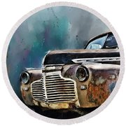 1941 Chevy Round Beach Towel