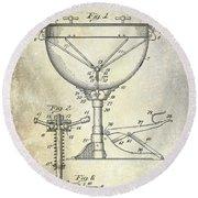 1941 Ludwig Drum Patent  Round Beach Towel by Jon Neidert