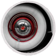 1941 Packard Convertible Wheels Round Beach Towel