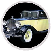 1941 Rolls-royce Phantom I I I  Round Beach Towel