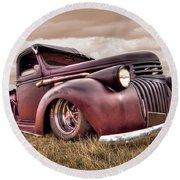 1941 Rusty Chevrolet Round Beach Towel