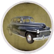 1946 Dodge D24c Sedan Round Beach Towel