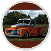 1947 Chevrolet Pickup Round Beach Towel