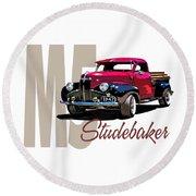 1947 M5 Studebaker Pickup Round Beach Towel