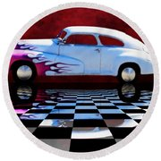 1947 Oldsmobile Reflect Round Beach Towel