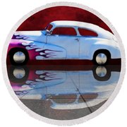 1947 Oldsmobile Tile Reflection Round Beach Towel