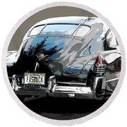 1948 Fastback Cadillac Round Beach Towel