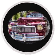 1948 Mercury Convertible Round Beach Towel