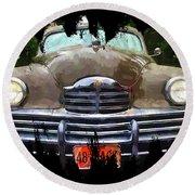 1948 Packard Super 8 Touring Sedan Round Beach Towel