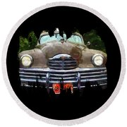 1948 Packard Super 8 Touring Sedan Round Beach Towel