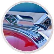 1949 Diamond T Truck Hood Ornament 3 Round Beach Towel by Jill Reger