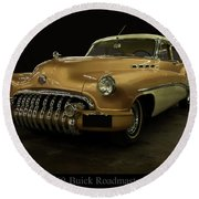 Round Beach Towel featuring the photograph 1950 Buick Roadmaster by Chris Flees