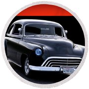 1950 Chevy 'stallion' Coupe II Round Beach Towel