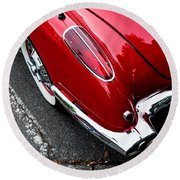 Round Beach Towel featuring the photograph 1959 Corvette by M G Whittingham