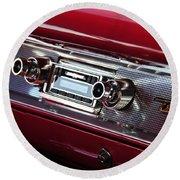 1950s Radio Round Beach Towel