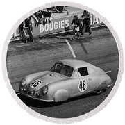1951 Porsche Winning At Le Mans  Round Beach Towel