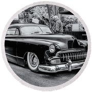 1951 Chevy Kustomized  Round Beach Towel by Ken Morris