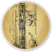 1952 Chiropractic Table Patent Round Beach Towel