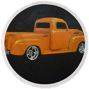 1952 Ford Pickup Custom Round Beach Towel
