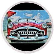 1952 Packard 250 Convertible Round Beach Towel