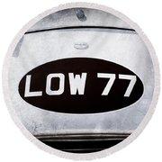 1952 Torero Mg Barchetta Sports Racer Hood Emblem -0448ac Round Beach Towel