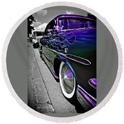 Round Beach Towel featuring the photograph 1953 Ford Customline by Joann Copeland-Paul