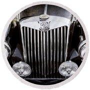 1954 Mg Tf Grille Emblem -0165ac Round Beach Towel