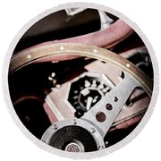 1954 Mg Tf Steering Wheel Emblem -0920ac Round Beach Towel