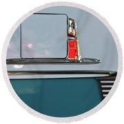 1955 Chevy Belair 2 Door Round Beach Towel