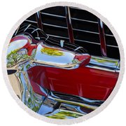 1955 Chevy Coupe Grill Round Beach Towel