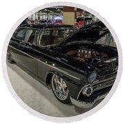 1955 Ford Customline Round Beach Towel by Randy Scherkenbach