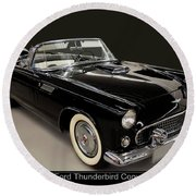 1955 Ford Thunderbird Convertible Round Beach Towel