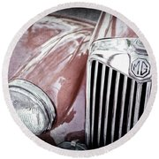 1955 Mg Tf 1500 Grille - 0082ac Round Beach Towel