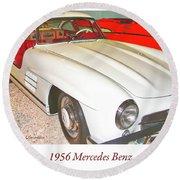 1956 Mercedes Benz Round Beach Towel