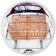 1956 Mga Roadster Round Beach Towel